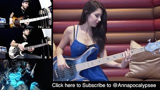 DAVID GUETTA - Dangerous [Bass & Drums Cover] with COOP3RDRUMM3R & ANNA SENTINA