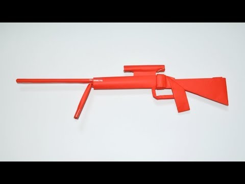How to make a paper gun - paper sniper rifle - origami - paper toy