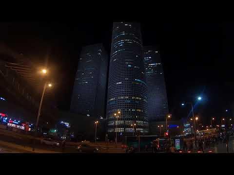 Israel travel - Night mall Azrieli -Tel Aviv