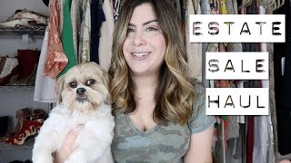 Shopping in an Anthropologie Buyers closet | Estate Sale Haul