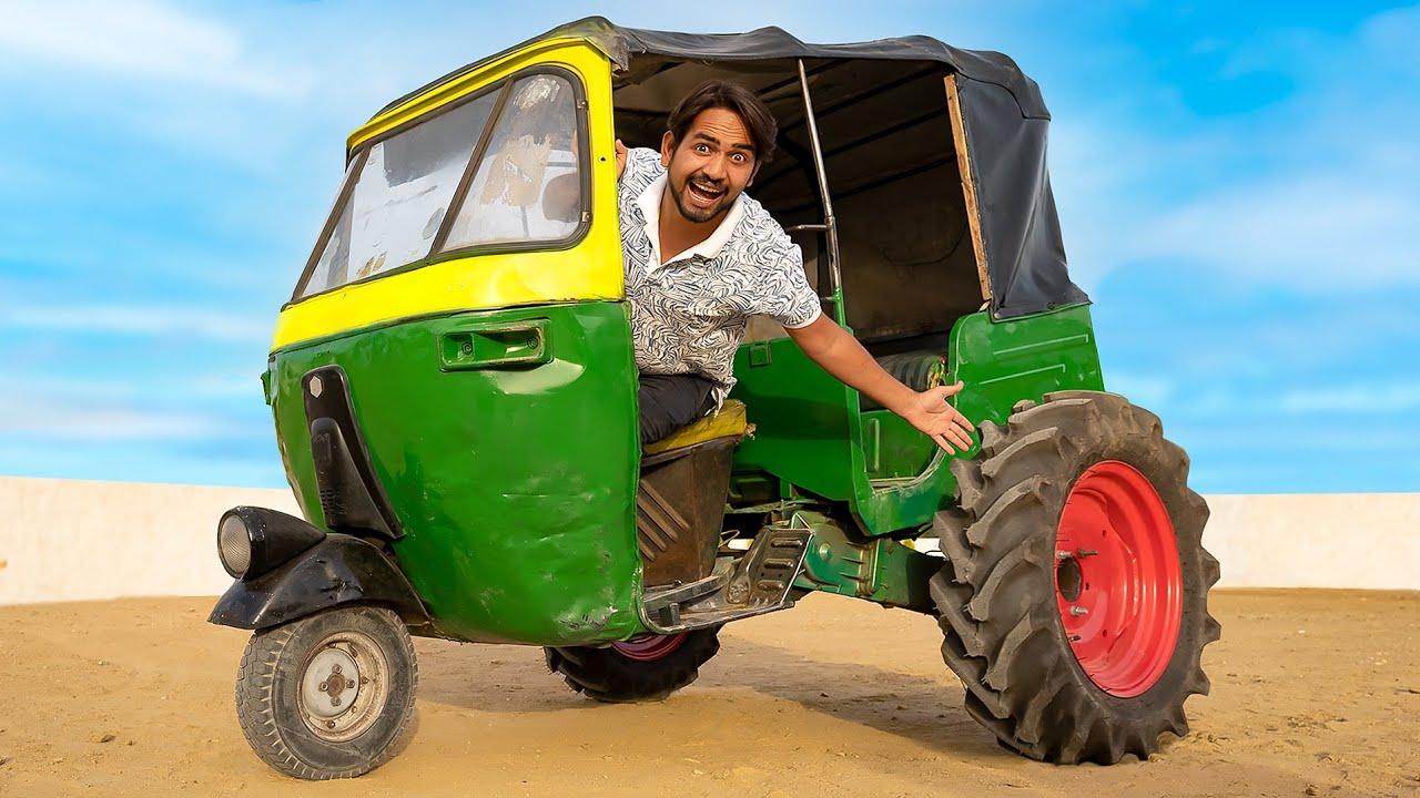 Tractor Tyre In Tempo - टेम्पो में लगा दिये ट्रैक्टर के टायर | Monster Tempo