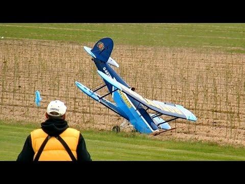 FLIGHT & CRASH LANDING !!! RC Stampe SV4B Modellsporttreffen Bölsdorf 2015 *1080p50fpsHD*