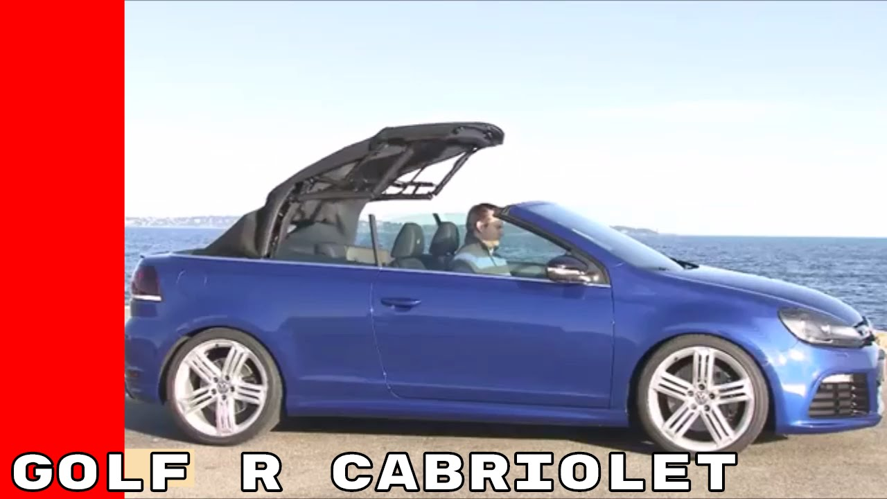 2017 VW Golf R Cabriolet Test Drive - YouTube