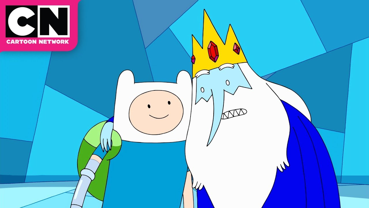 adventure time finn and ice king want to make comics cartoon