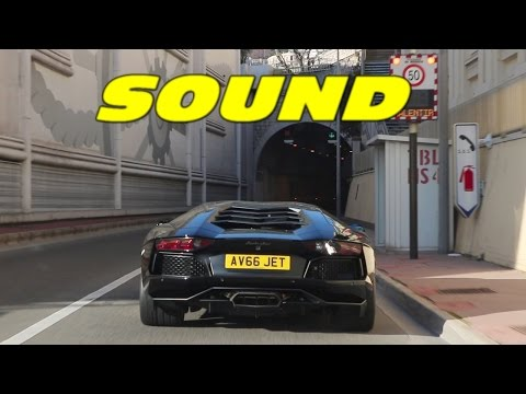 Following NOISY Aventador Miura Edition in Tunnel !
