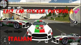 CAR PARKING MULTIPLAYER CAR STICKER DESIGN