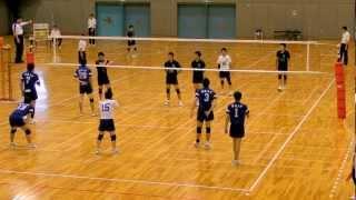 全日本大学男子バレーボール東西 東海大 vs 大阪産業大 2012.7.15-2