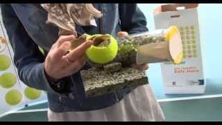 Les balles de tennis recyclées pour créer des terrains de sport