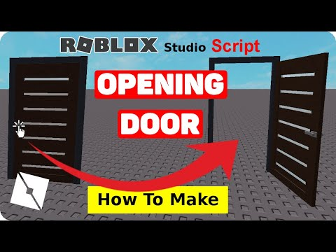 How To Make An Opening Door In Roblox Studio Youtube