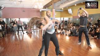 Alex and Mathilde - Dance Festival at the Center of the Universe 2015 - Zouk Demo 3