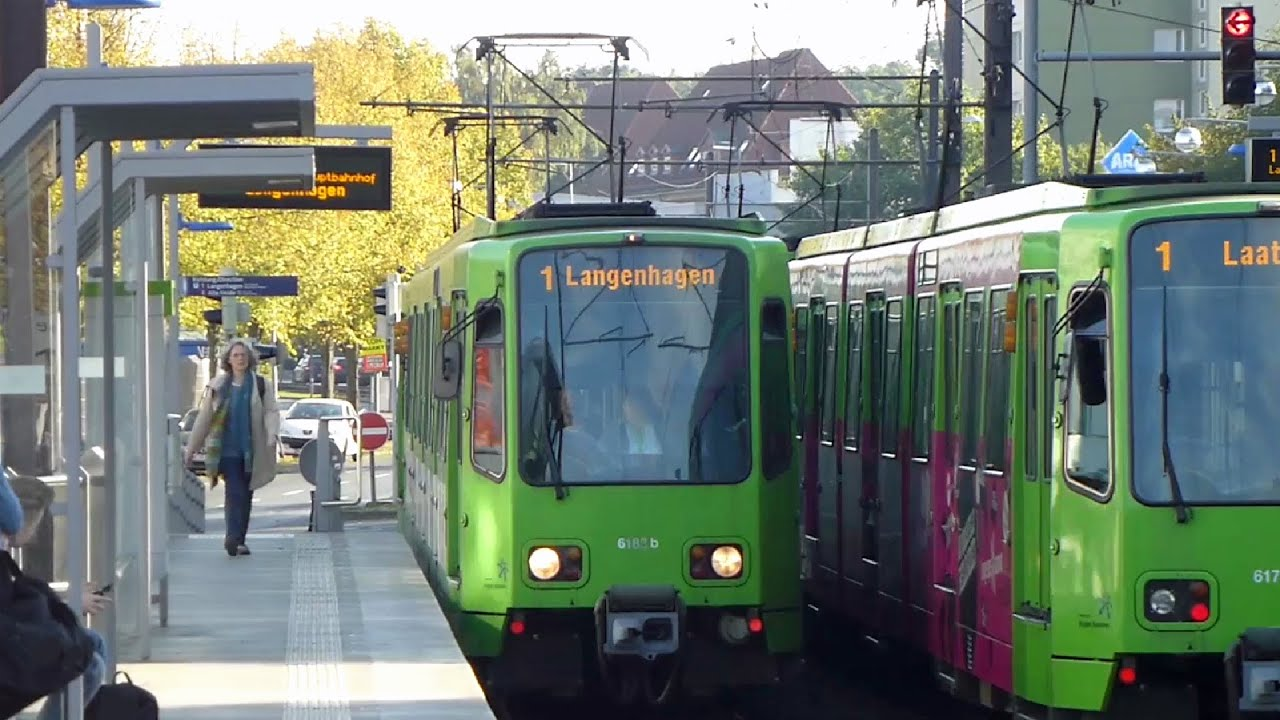 Linie 1 Am Brabrinke (Stadtbahn Hannover) - YouTube
