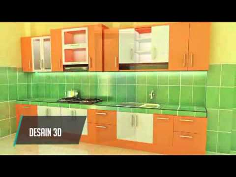 Kitchen Set Minimalis Warna Orange Youtube