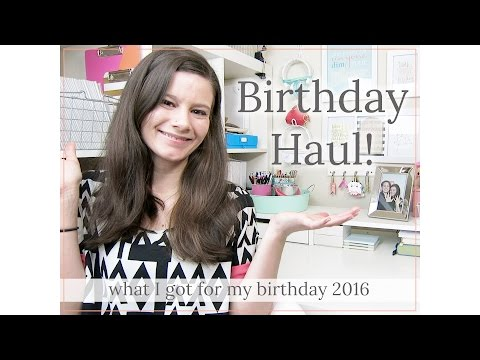 Birthday Haul • What I Got for My Birthday 2016    Kate Spade • Pottery Barn • Morphe