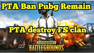 Pubg still Ban in  Pakistan ?/ PUBG Will Remain Banned In Pakistan /PTA BANNED PUBG  FINAL DECISION