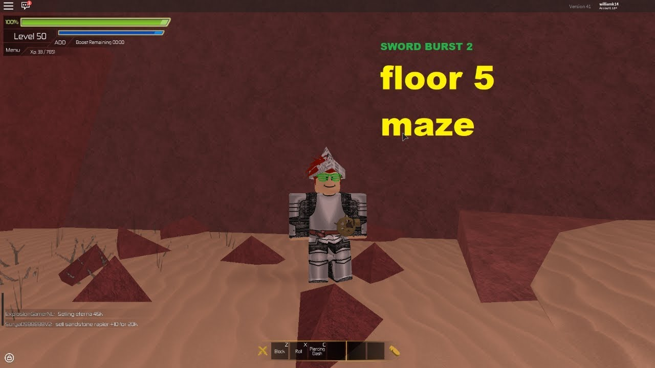 roblox swordburst 2 floor 5 boss maze youtube