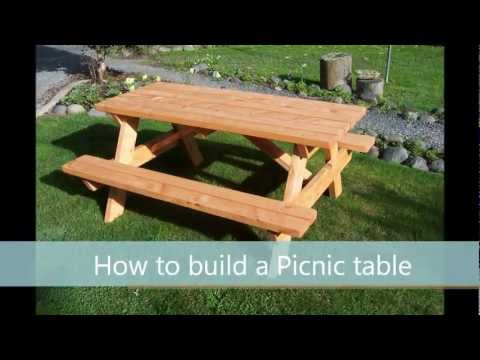 How To Build A Picnic Table A Step By Step Guide YouTube - Timber picnic table