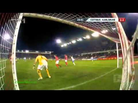 Cottbus vs  Karlsruhe 5 5 ,Highlights  alle 10 Tore des unglaublichen Spiels , 2.Bundesliga !