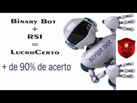 Binary Bot | Script + Rsi = Lucro Certo  90% de Acerto