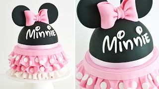 Como decorar una torta de MINNIE MOUSE || TAN DULCE
