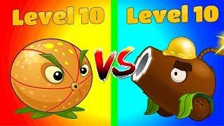Max Level Plants vs Zombies 2 Compare Coconut Cannon 10 vs Citron 10 - Hard Levels and Zombies PVZ 2