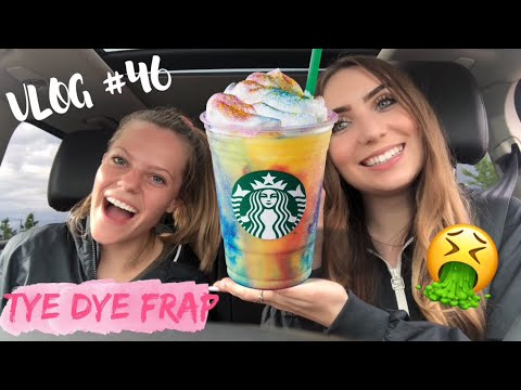 TRYING THE NEW STARBUCKS TIE DYE FRAP!! DISGUSTING!