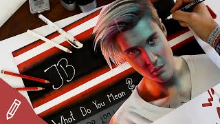 Drawing Justin Bieber - WHAT DO YOU MEAN (Scene From Official Video) REALISTIC PENCIL PORTRAIT