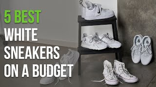 5 Best Affordable White Sneakers for Back to School | Men's Fashion BTS | Onedapperstreet