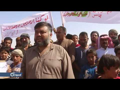 نازحو الركبان يتظاهرون احتجاجاً على سوء الأوضاع الإنسانية داخل المخيم  - 19:53-2018 / 10 / 19