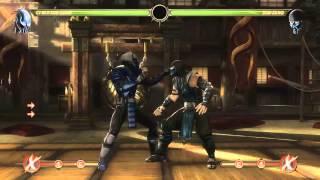 Mortal Kombat 9 - Cyber Sub-Zero - обучение + комбо
