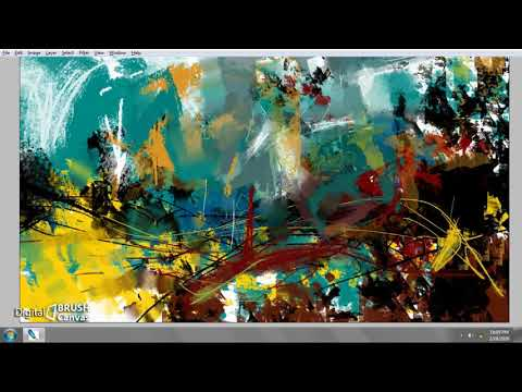 PAINTING #09 | digital painting | abstract art | painting tutorial | easy to learn | landscape art