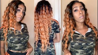 FALL INSPIRED HAIR!! | FREETRESS EQUAL PREMIUM V-SHAPED DELUX LACE FRONT WIG