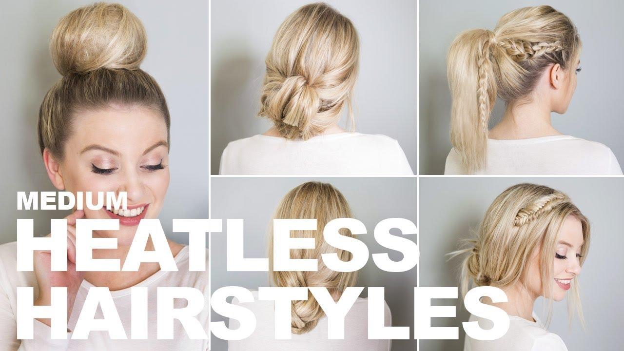 Heatless Hairstyles For Medium Hair Milk Blush Hair Extensions