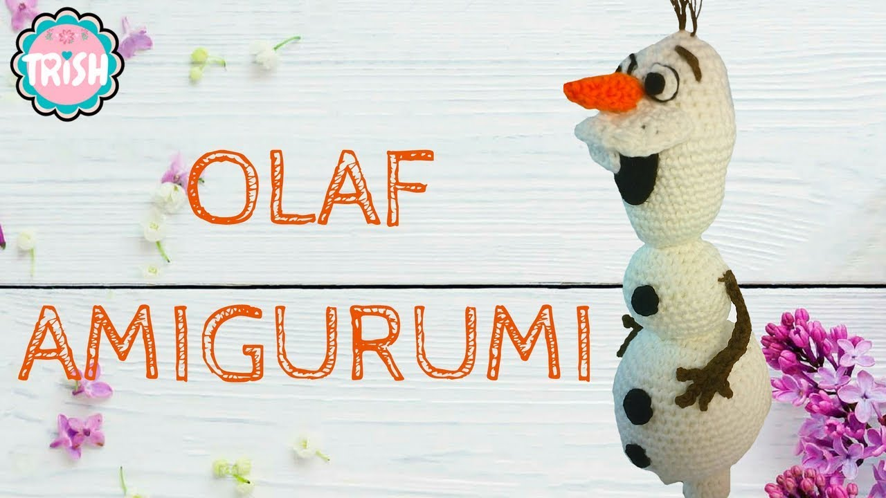 Amigurumi Olaf Tutorial : Olaf amigurumi crochet frozen youtube
