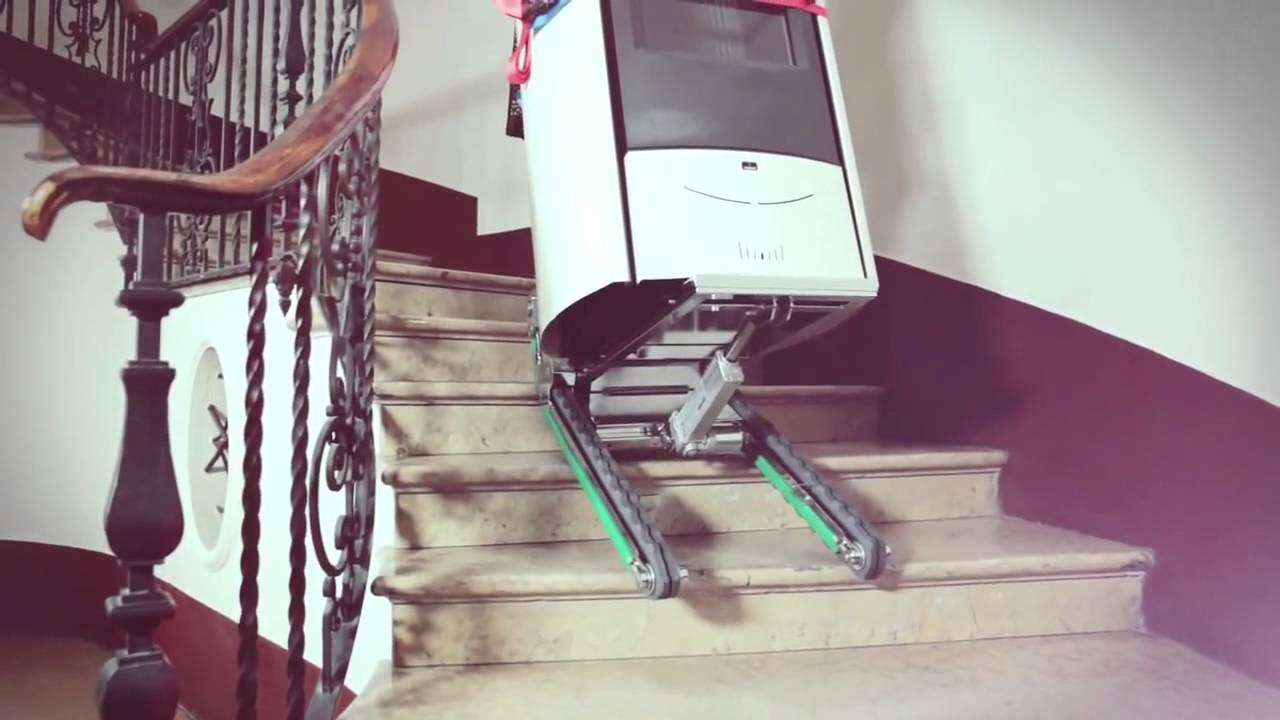 Monte-escaliers Domino - YouTube