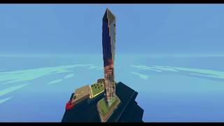 Minecraft Cayan Tower (DUBAI) REPLICA  #1