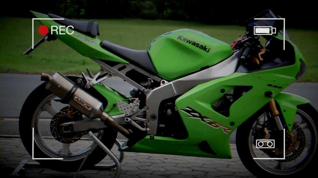 zx6r meets w rgau kawasaki ninja 636b 34ps youtube