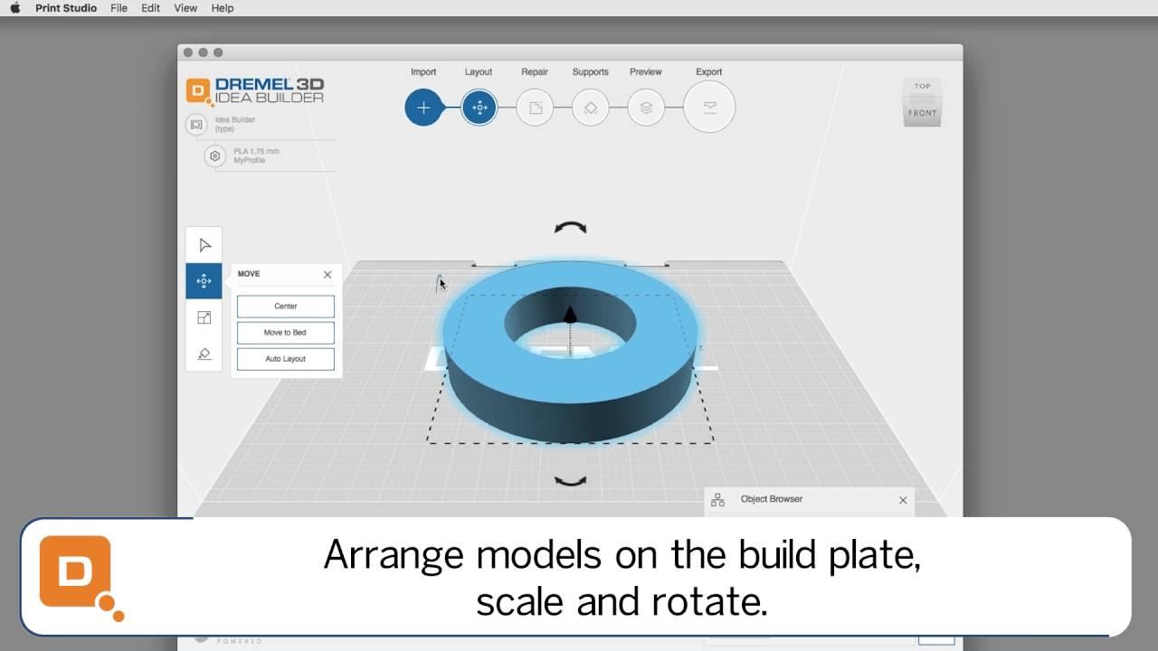 Dremel 3d40 Idea Builder File Preparation In Print Studio Youtube