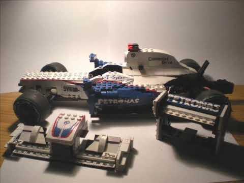 building lego f1 bmw sauber 2009 model part 1 youtube. Black Bedroom Furniture Sets. Home Design Ideas