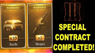 BO3: SPECIAL CONTRACT COMPLETED! (OPENED 5 NEW WEAPONS!)