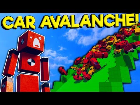 I Created An Insane Car Avalanche For Ragdolls In Fun With Ragdolls The Game!