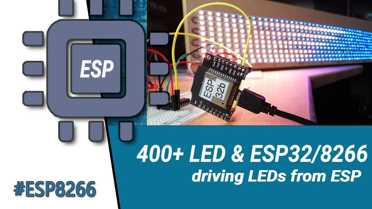 How to drive RGB LEDs with ESP32 & ESP8266 - Not Enough TECH