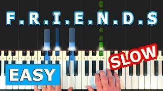 FRIENDS THEME - SLOW EASY Piano Tutorial