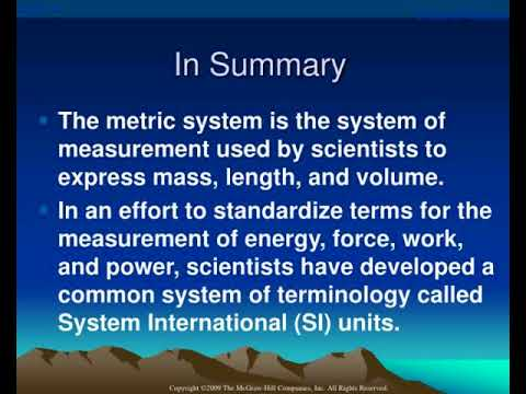 measurement of work power and energy expenditure
