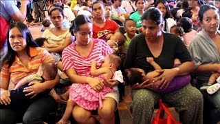 Mothers and babies press for breastfeeding rights