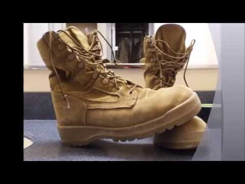 USMC boot cleaning video