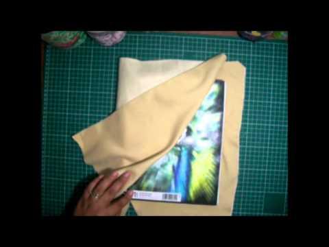 Como forrar un cuaderno con tela youtube - Como forrar muebles con tela ...