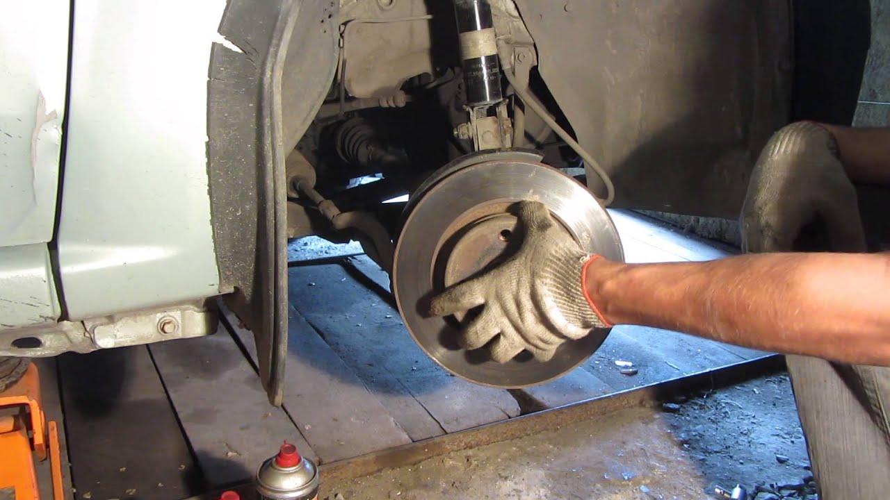 Замена тормозных дисков ларгус своими руками