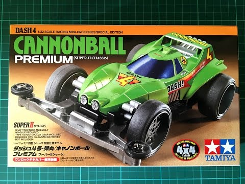 Unboxing And Assembling Tamiya Mini 4wd Cannonball Dash 4, Super 2 Chassis (time-lapse)
