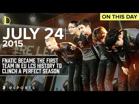 The day Fnatic made EU LCS history with a perfect 18-0 regular season (LoL)