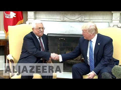 Trump, Abbas express high hopes over Mideast peace